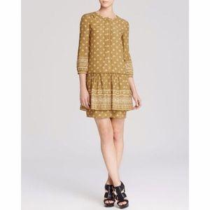 Burberry Brit Lelia Green Ochre Mini Shirt Dress